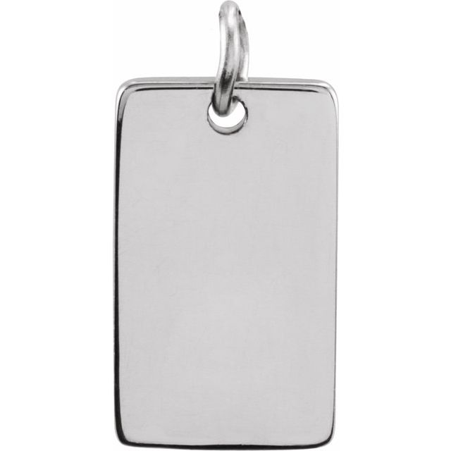Sterling Silver 34x10 mm Be Posh® Rectangle Pendant
