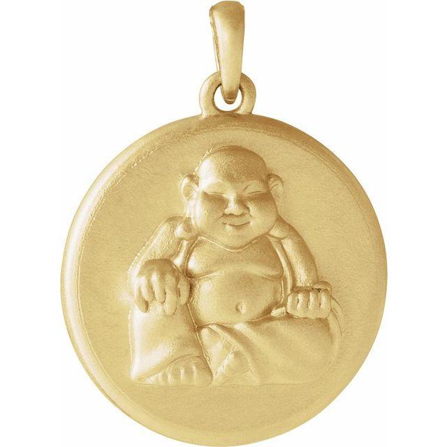 14K Yellow Buddha Pendant