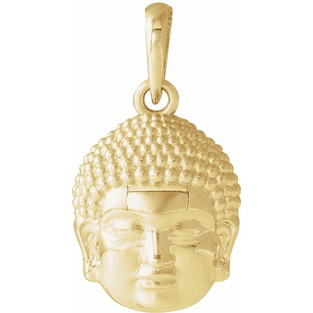 14K Yellow 14.7x10.5 mm Meditation Buddha Pendant