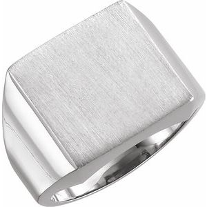 Sterling Silver 12 mm Square Signet Ring