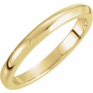 14K Yellow 2.25 mm Solstice Solitaire® Tapered Knife Edge Matching Band 7