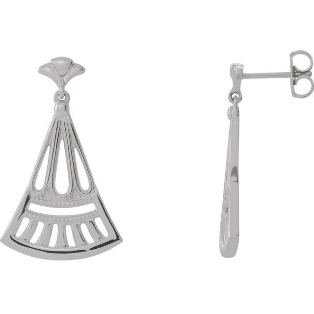Sterling Silver Vintage-Inspired Dangle Earrings