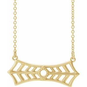 """14K Yellow Vintage-Inspired Bar 18"""" Necklace"""