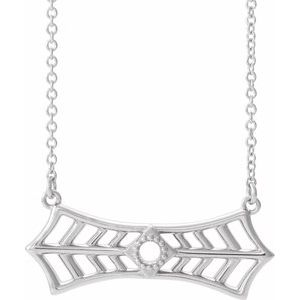 "Sterling Silver Vintage-Inspired Bar 18"" Necklace"