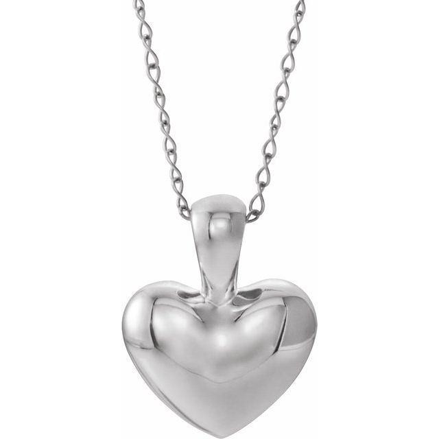 Sterling Silver Youth Heart 15