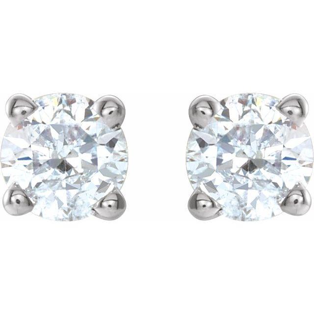 14K White 1/4 CTW Natural Diamond Earrings
