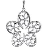 Flower Necklace or Pendant