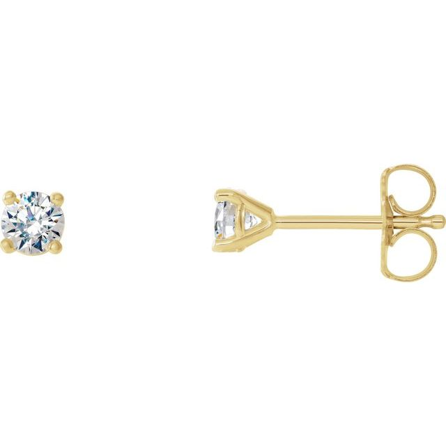 14K Yellow 1/3 CTW Diamond 4-Prong Cocktail-Style Earrings