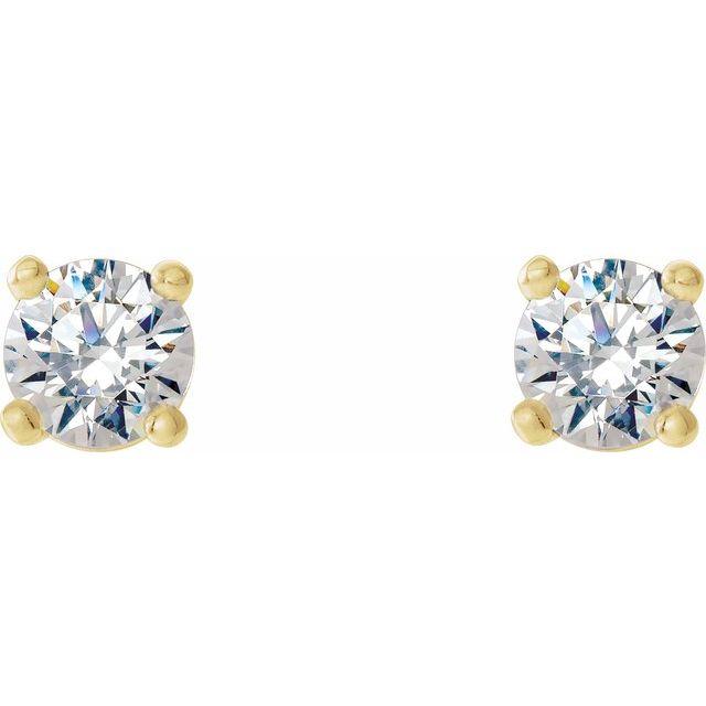 14K Yellow 1/5 CTW Lab-Grown Diamond 4-Prong Stud Earrings