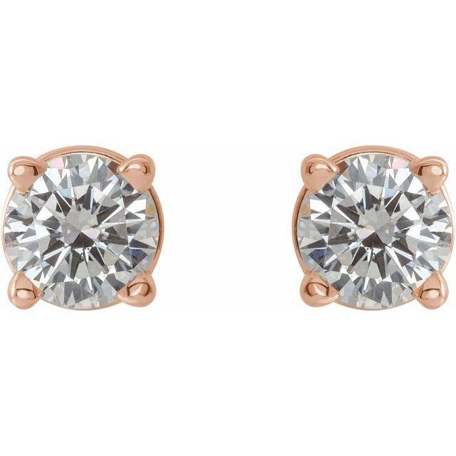 14K Rose 1/3 CTW Diamond Earrings