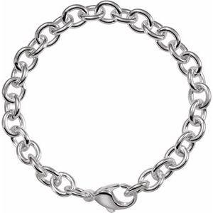 """Sterling Silver Cable Link 8.5"""" Bracelet"""