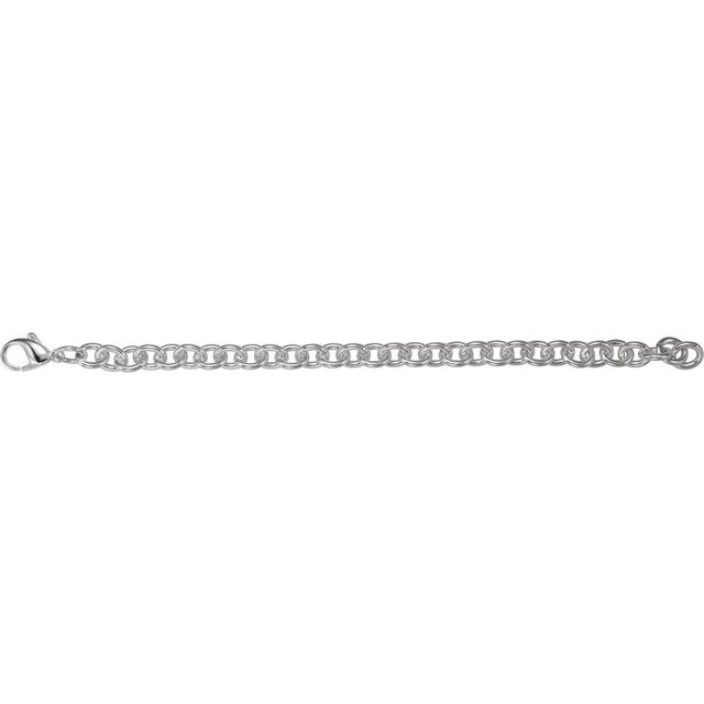 Sterling Silver Cable Link 7.5