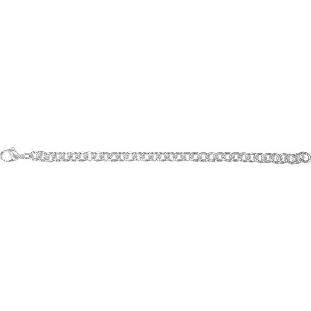 Sterling Silver Cable Link 8.5
