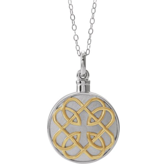 Sterling Silver 14K Yellow Gold-Plated Celtic-Inspired Ash Holder 18