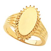 Ladies Oval Signet Ring
