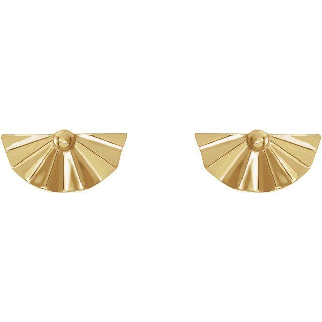 14K Yellow Geometric Earrings