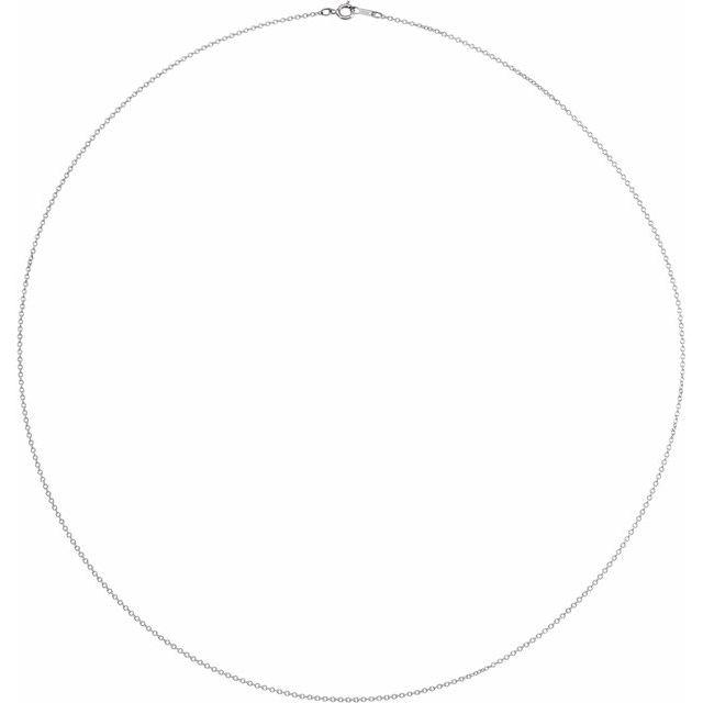 Platinum 1 mm Adjustable Diamond-Cut Cable 16-18