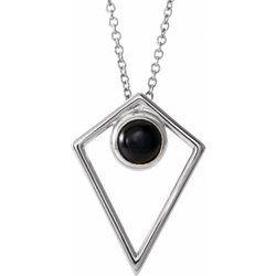 Cabochon Pyramid Necklace or Pendant