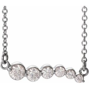 "Sterling Silver 1/4 CTW Diamond Graduated 18"" Necklace"