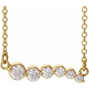 "14K Yellow 1/4 CTW Diamond Graduated 18"" Necklace"