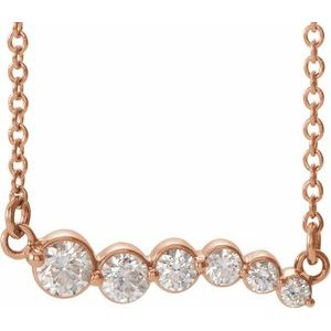"14K Rose 1/4 CTW Diamond Graduated 16"" Necklace"