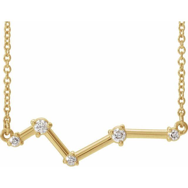 14K Yellow 1/10 CTW Diamond Constellation Bar 18