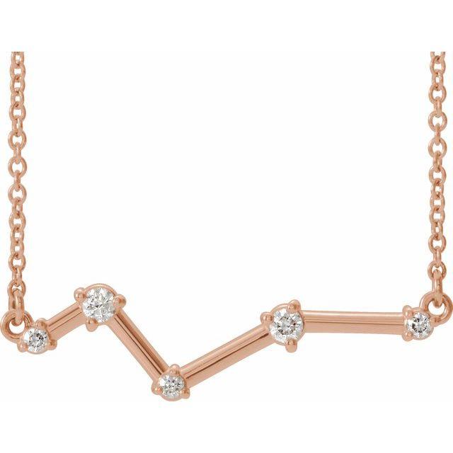 14K Rose 1/10 CTW Diamond Constellation 18
