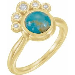 Accented Cabochon Ring