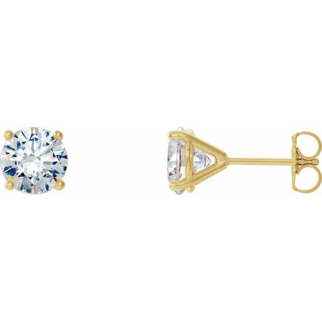 14K Yellow 1/2 CTW Natural Diamond 4-Prong Cocktail-Style Earrings