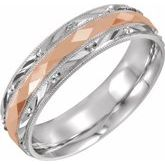 Design-Engraved Band with Milgrain