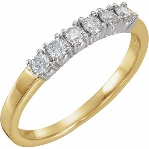 14K Yellow & White 1/4 CTW Diamond Anniversary Band