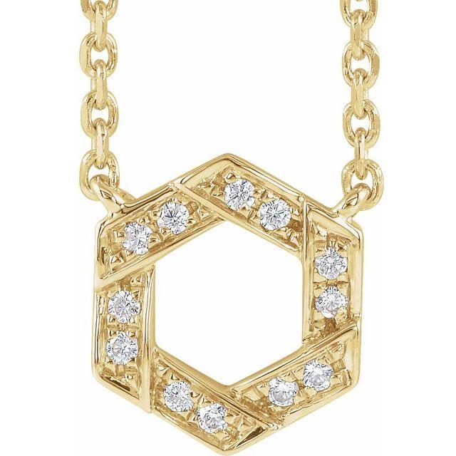 14K Yellow .06 CTW Diamond Geometric 16-18