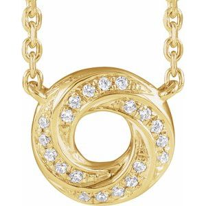 "14K Yellow .06 CTW Diamond Geometric 18"" Necklace"