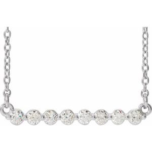 "14K White 1/4 CTW Diamond Bar 18"" Necklace"