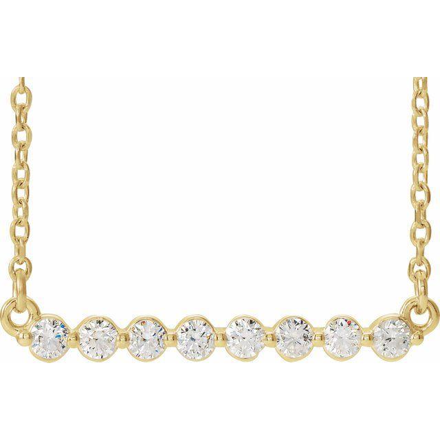 14K Yellow 1/4 CTW Diamond Bar 16