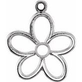 Accented Flower Dangle
