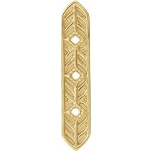 14K Yellow Vintage-Inspired Vertical Bar Pendant