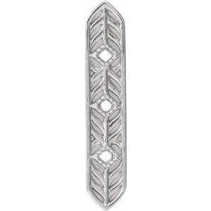Sterling Silver Vintage-Inspired Vertical Bar Pendant