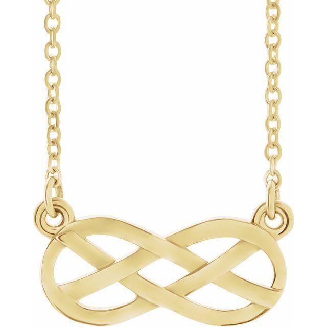 14K Yellow Infinity-Inspired Knot Design 18