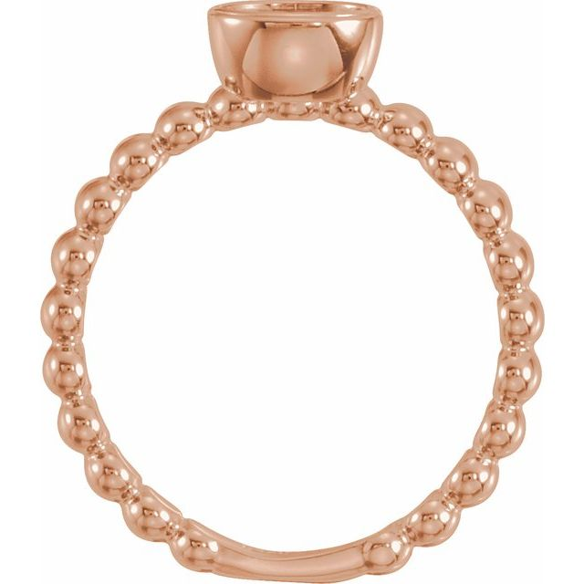14K Rose Stackable Family Ring Mounting
