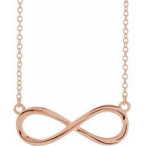 """14K Rose Infinity-Inspired 18"""" Necklace"""