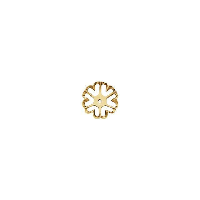 14K Yellow 6.6 mm ID Earring Jackets