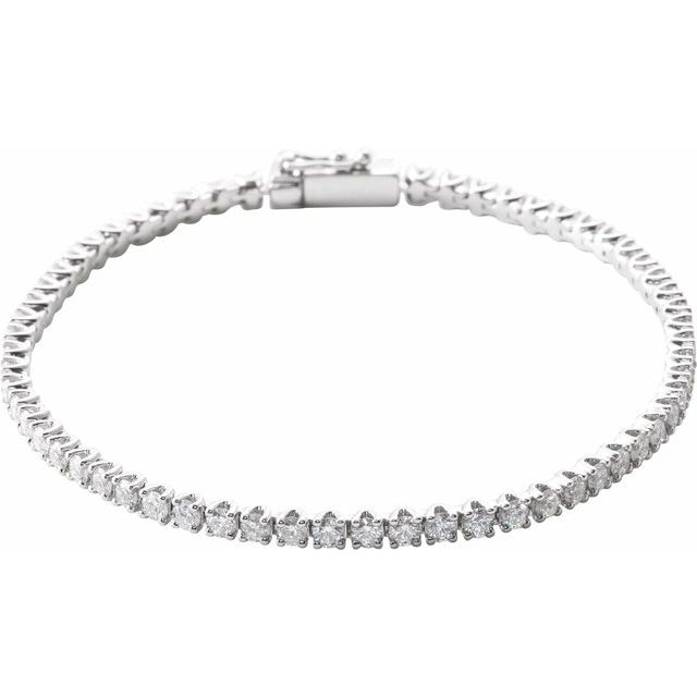 14K White 3 CTW Diamond Line 7