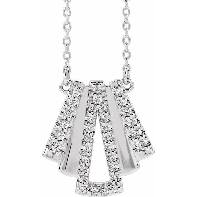 14K White 1/4 CTW Diamond Art Deco 18