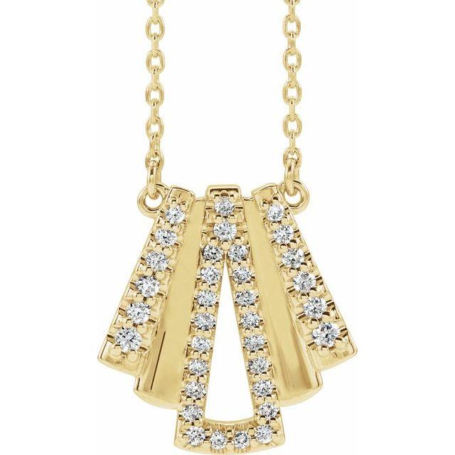 14K Yellow 1/4 CTW Diamond Art Deco 18