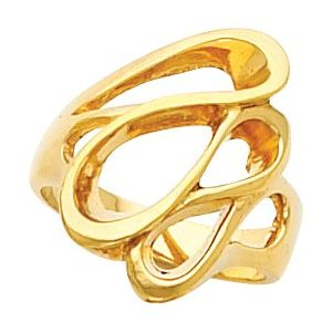 14K Yellow Freeform Ring