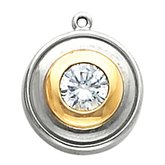 Bezel-Style Solitaire Dangle