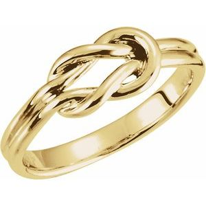 14K Yellow 6 mm Knot Ring