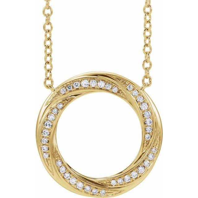 14K Yellow 1/5 CTW Diamond Circle 16-18