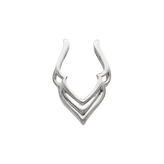 14K White Pendant Enhancer